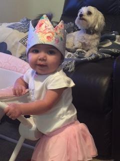 Katerina with a princess crown
