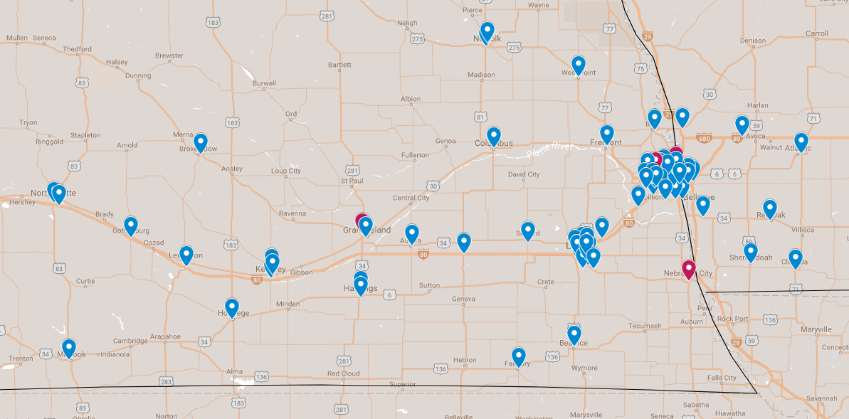 Ronald McDonald House Charities In Omaha Big Red Friday - Mcdonalds locations on us map