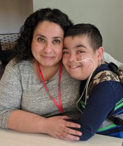 Violeta and her son Jonathan