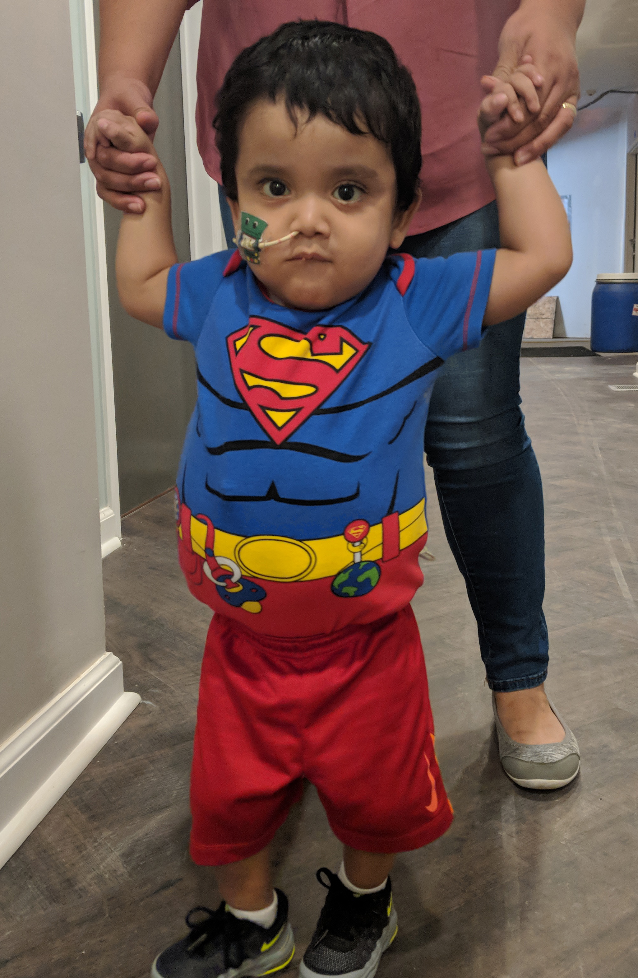 Ariel wearing a Superman shirt