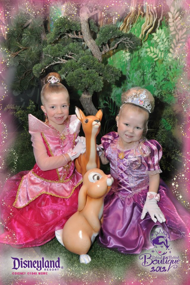 Alyssa and Grace at Disneyland